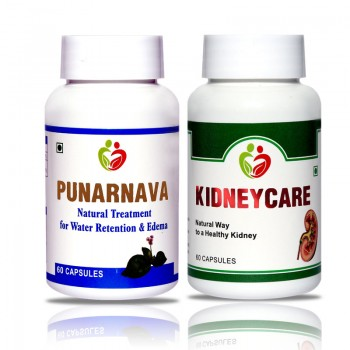 Kidney Care Combo Pack (Punarnava, Kidney Care) Pack of 60 Capsules each